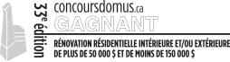 Prix Domus remis par l'APCHQ - Rénovation Résidentielle Intérieur et/ou Extérieure de plus de 50 000 $ et de moins de 150 000 $. Grand Montréal Métropolitain.