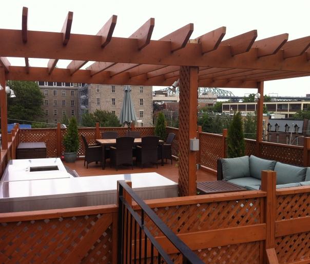 Terrasse de bois